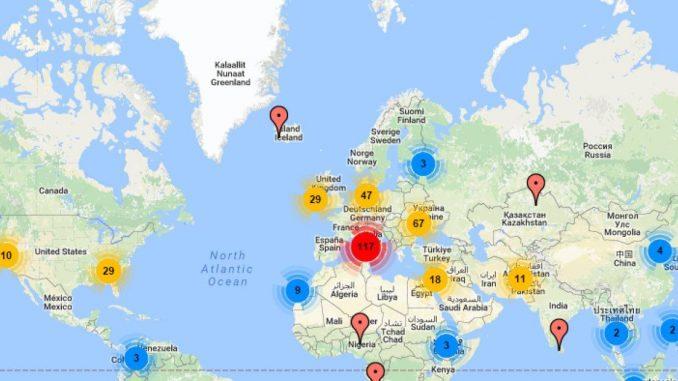 Hartă Interactivă Cu Secțiile De Votare Din Diaspora
