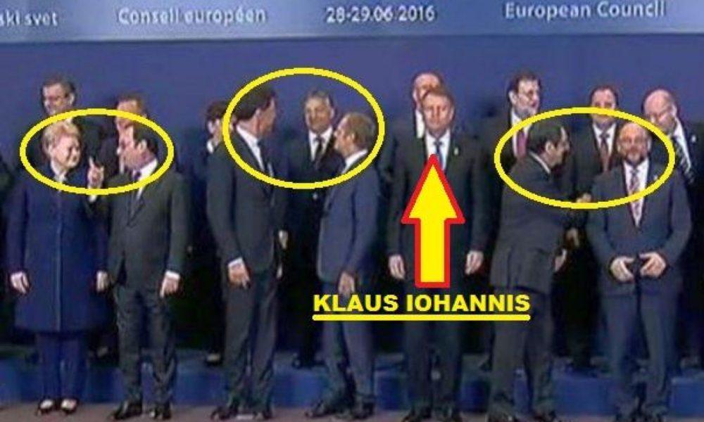 """Preşedintele Iohannis la Consiliul European parcă spune: """"Ce caut eu aici?"""""""