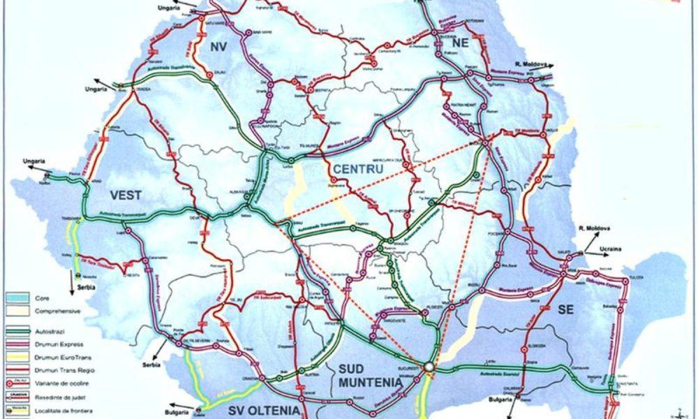 Harta Drumurilor Din Romania Varianta Ioan Rus